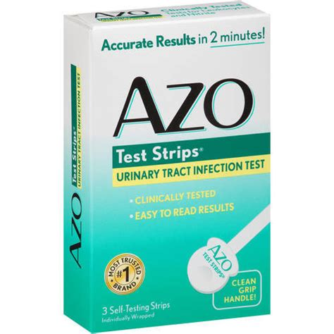 azo urinary tract infection test strips 3ct walmart