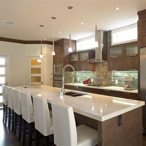 grand ilot de cuisine grand 238 lot contemporain avec comptoir de quartz cuisine