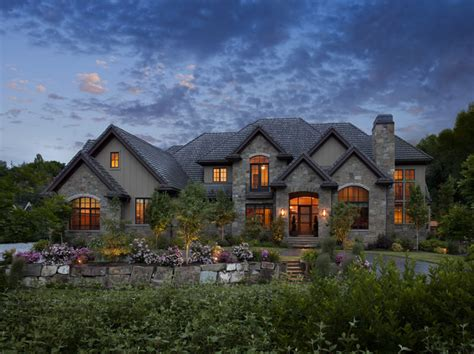 custom home plan exteriors traditional exterior salt lake city by