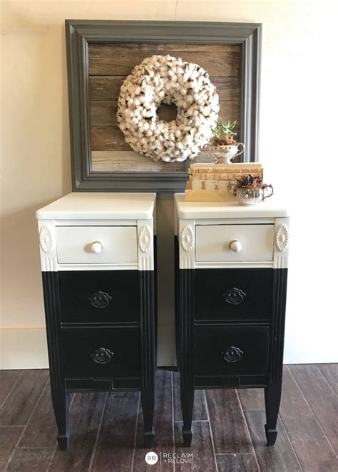 black and white side table l black and snow white color block side tables