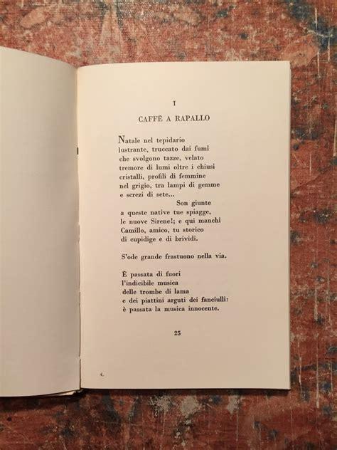 ossi di seppia testo montale ossi di seppia quinta edizione quot i poeti dello