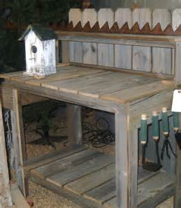 Simple Wooden Work Bench Plans by Potting Table Reclaimed Wood Potting Table Potting Bench