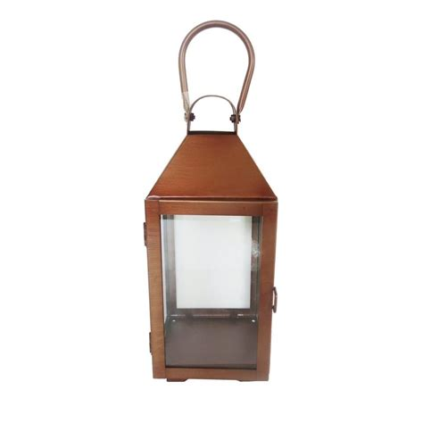 13 in metal lantern in antique copper 14001s the home depot