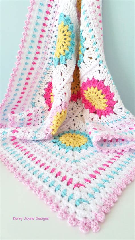 Libby Baby Blanket Cotton square baby blanket pattern cotton yarn blanket