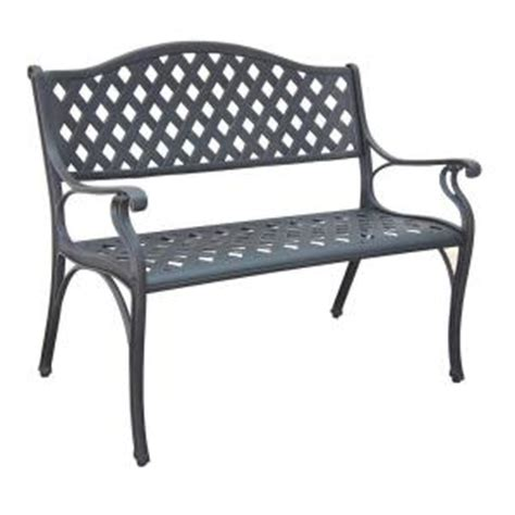 hton bay legacy aluminum patio bench c526 62 the home