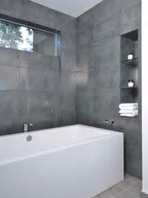 modern tile bathroom large format grey tile home design ideas pictures