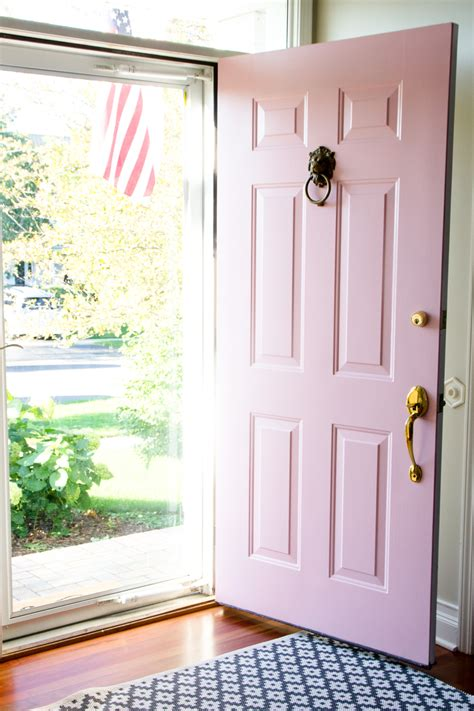 Pink Front Door Paint Painting Our Front Door With Farrow Shining On Design
