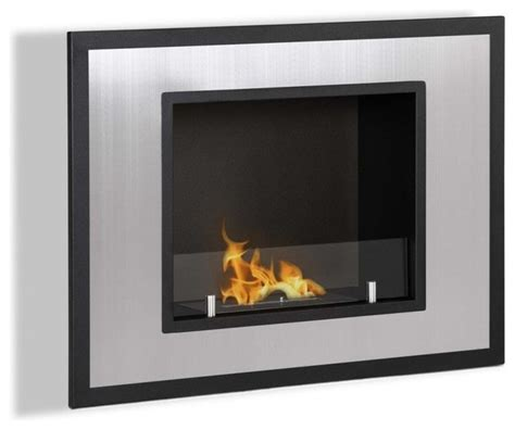 Wall Mounted Indoor Fireplace by Bellezza Mini Wall Mounted Recessed Ventless Ethanol Fireplace Mini Square Modern Indoor