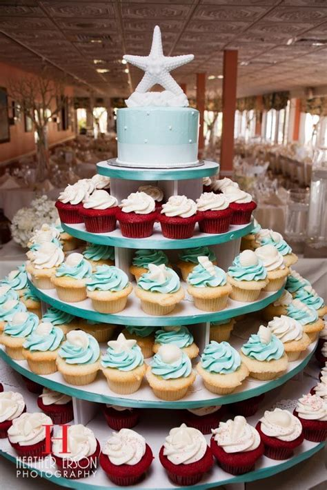 46 best themed wedding cupcakes images on conch fritters seashell cupcakes