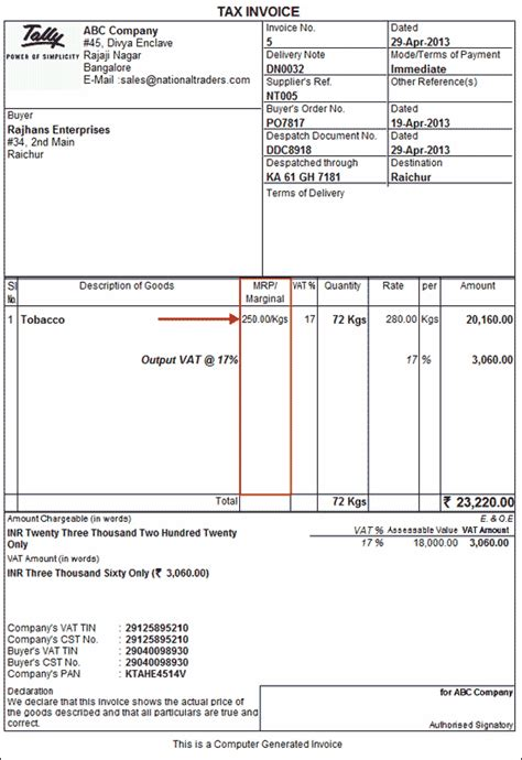 sle invoice with vat and service tax sales tax invoice hardhost info