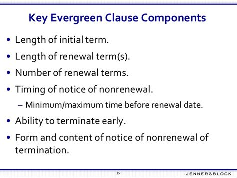 Letter Of Credit Evergreen Clause evergreen clause fundamentals