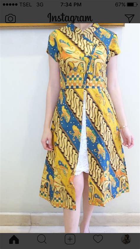 Cheongsham Anak Dress Motif Bunga batik modern batik modern kebaya and