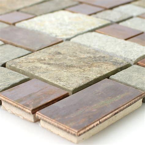 fliesen naturstein naturstein kupfer mosaik fliesen mix tm33411