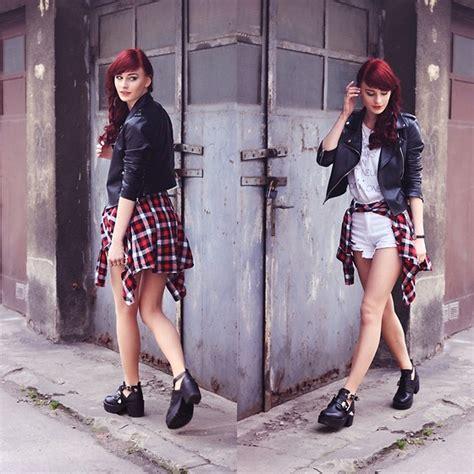 Stripe Norra Skirt Rok barbora ondrackova sheinside leather jacket choies