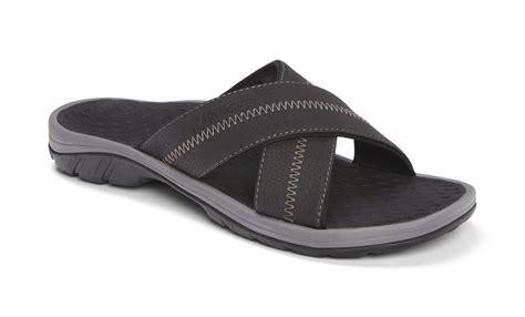 comfort slide sandals vionic adam men s comfort slide sandals w orthaheel