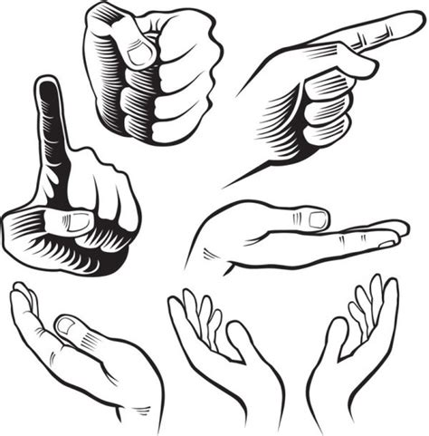 hand draw design elements vector hand drawn gesture design elements vector free vector in
