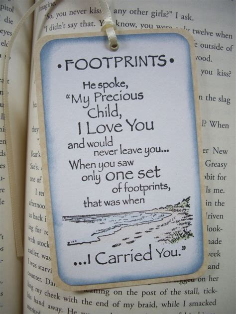 Footprints In The Sand Printable Bookmark