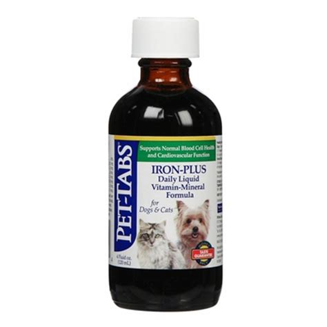 iron supplements for dogs pet tabs 174 iron plus 4 fl oz healthypets