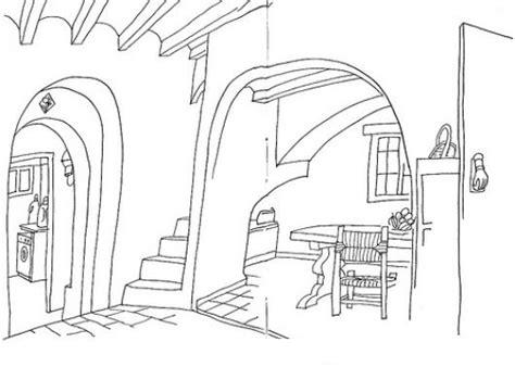 imagenes para pintar interiores de casas dibujo del interior de una casa para pintar y colorear