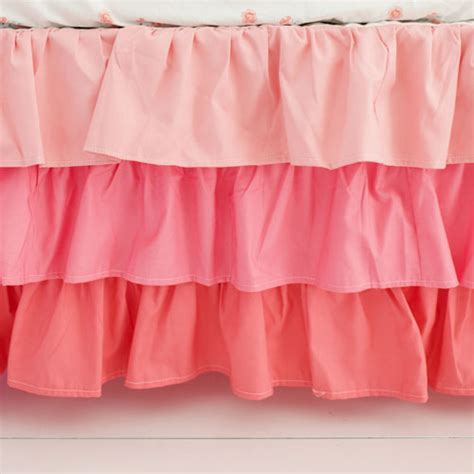 Crib Ruffle Skirt by Coral Ruffled Crib Skirt Ruffle Crib Skirt Ruffled