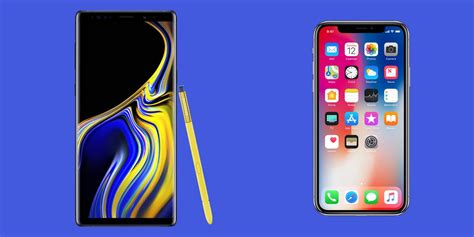 apple iphone x vs samsung galaxy note 9 specs and features 1 000 smartphone showdown