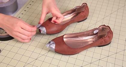 Sepatu Selop Gliter Ujung Gold ide mendekorasi flatshoes polos menjadi design mouse