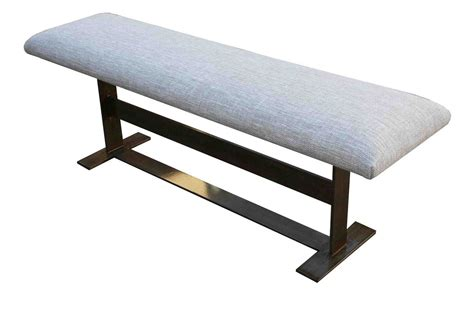 modern metal bench benches barstools ottomans mortise tenon