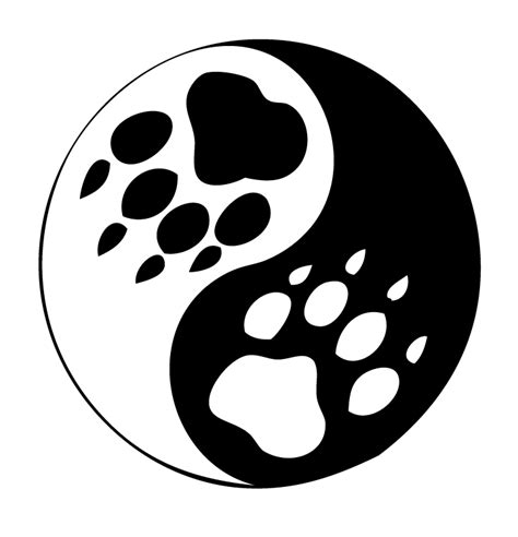 animal paw yin yang tattoo graphic real photo pictures