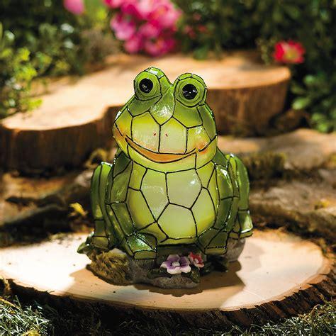 Frog Garden Decor Frog Solar Garden Statue Supplies Outdoor Decor Garden Home Decor Trading