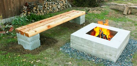 bench fire wood working project fire pit bench diy roy home design