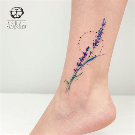 watercolor tattoo lavender lavender by koraykaragozler on deviantart