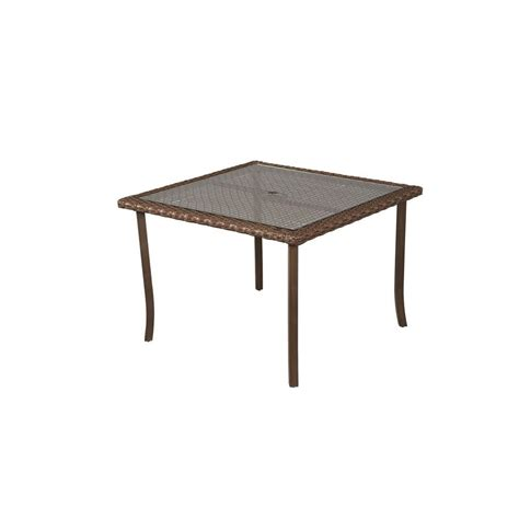Square Patio Dining Table Hton Bay Bloomfield 40 In Square Patio Dining Table 151 039 40sqt The Home Depot