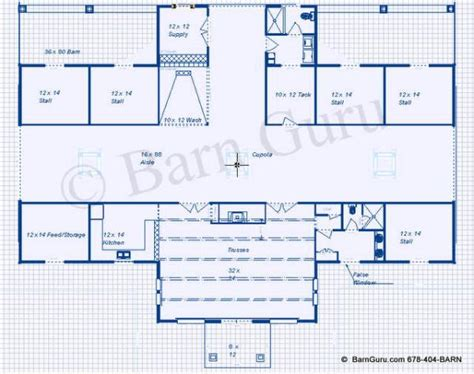 horse barn blueprints loren free barn cupola plans