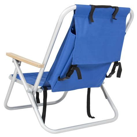 Folding Backpack backpack chair folding portable chair blue solid