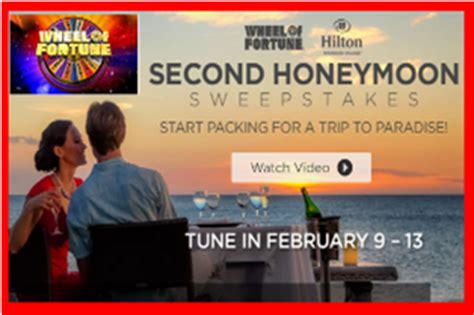 Wheel Of Fortune Hawaii Sweepstakes - wheel of fortune 2nd honeymoon win a trip for 2 to hawaii s big giveawayus com