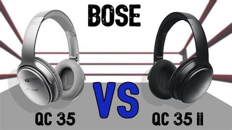 bose qc  qc ii comparison youtube