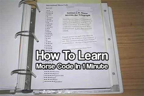 how to learn morse code in 1 minute shtf prepping central