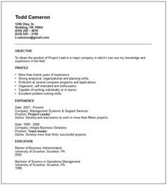 management resume exles