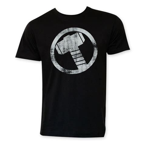 Tshirt Thor Black 02 thor circle logo t shirt superheroden