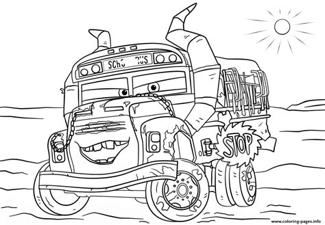 fritter  cars  disney coloring pages printable