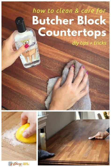 How To Clean Kitchen Countertops 25 Best Ideas About Butcher Block Countertops On Diy Butcher Block Countertops