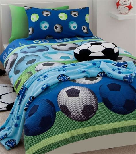 football bedding set football themed duvet set blue