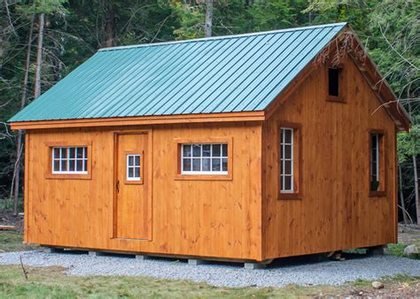 Cabin Kits In Washington State 16x20 vermont cottage option b no porch shiplap siding