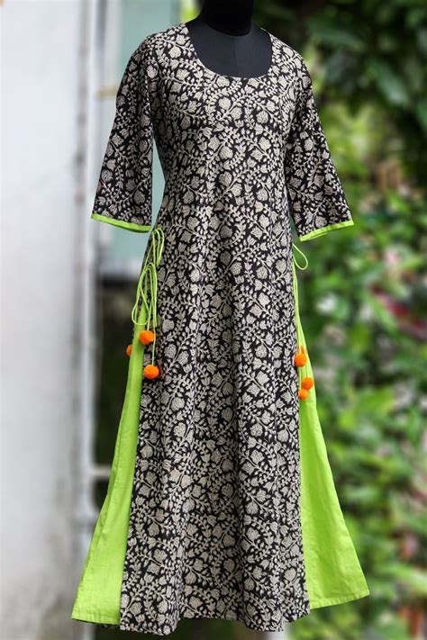cotton printed bell sleeves long kurta salwar patterns 15 best and latest winter kurtis for ladies styles at life