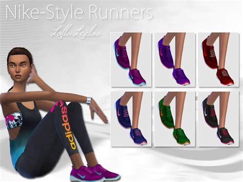 nike style runners by lollaleeloo the sims 4 catalog