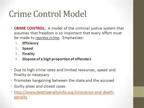 Crime Model And Due Process Model by Criminal Justice Unit Ppt