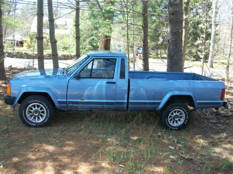 jeep comanche blue buy used 1989 jeep comanche mj 4x4 long bed automatic in