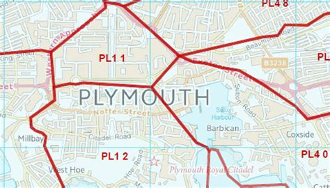 map of plymouth area postcode city sector map plymouth e32