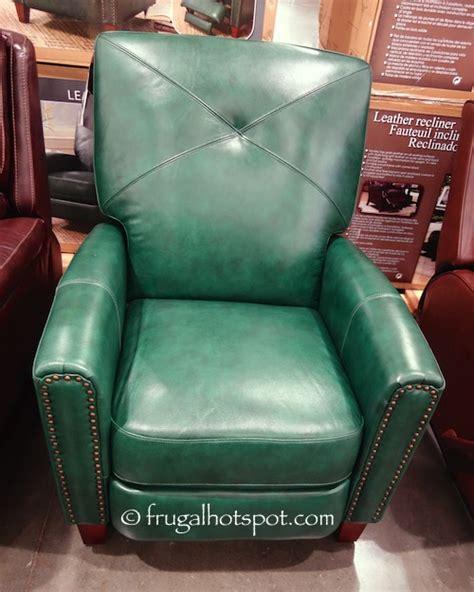 recliners sale costco costco bainbridge green leather pushback recliner 499 99