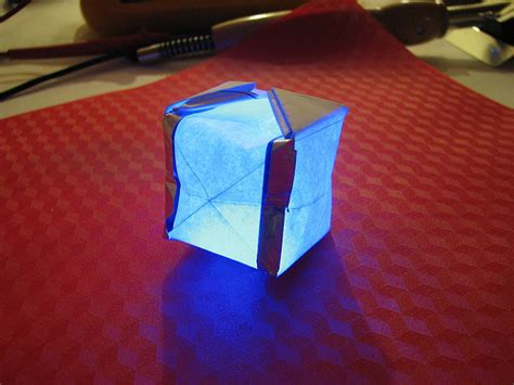 Origami Lantern Box - paper circuitry at home electric origami evil mad